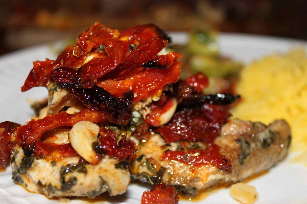 Chicken breast with sundried tomatoes
