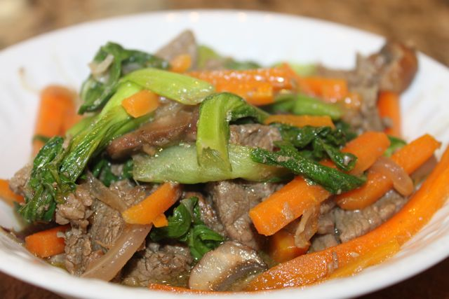 Here's a fast beef stir fry that I made last night for dinner ...