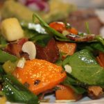 Warm Spinach and Sweet Potato Salad