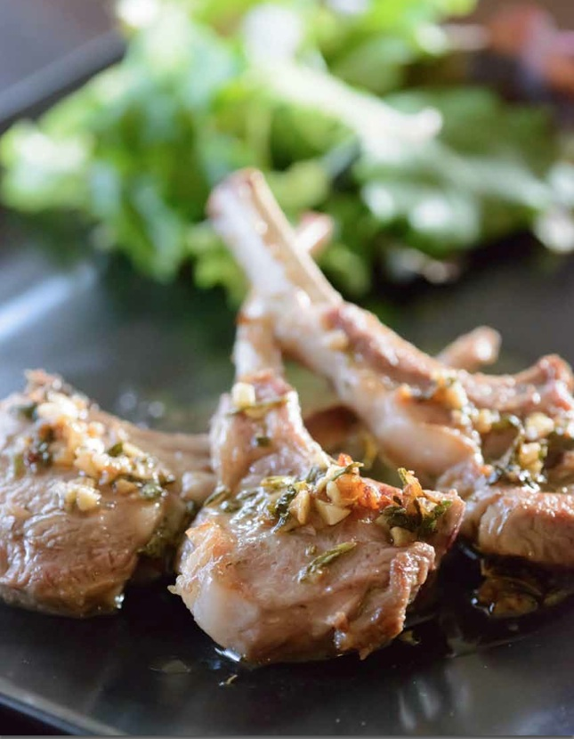 lamb aromatic herbs