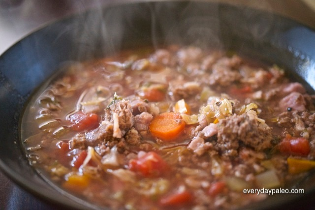 Savory beef soup 1