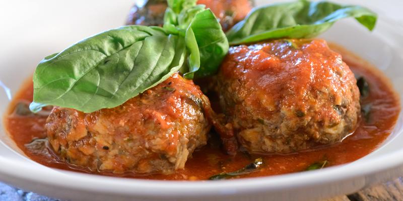 Mushroom Meatballs with Easy Tomato Sauce