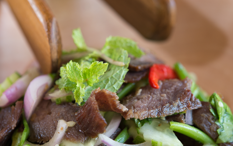 Spicy Thai Grilled Beef Salad and Marinade