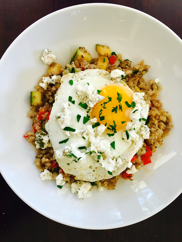 Cauliflower Rice With Eggs And Goat Cheese Seefit